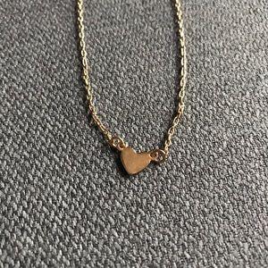 BAUBLEBAR Gold Anklet & Heart Necklace (Set of 2)